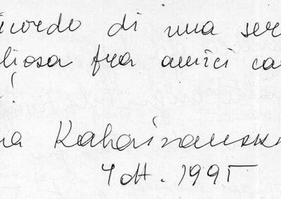 170 - KABAIVANSKA - 7 ottobre 1995