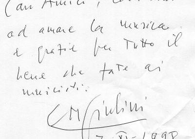 CARLO MARIA GIULINI-7 novembre 1998