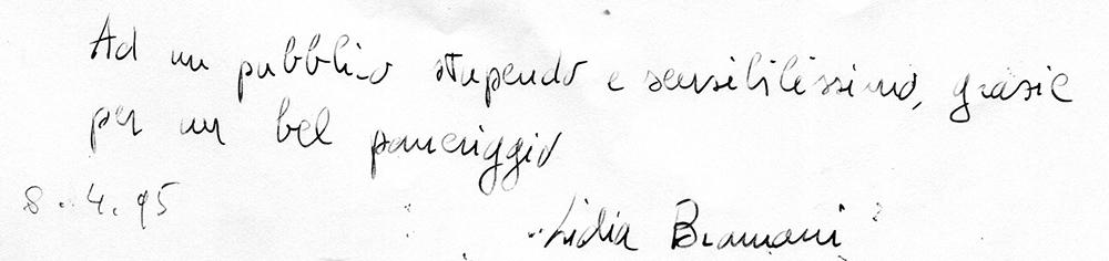 LIVIA BRAMANI-5 aprile 1995